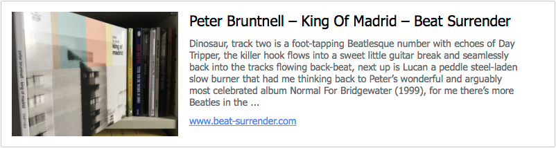 The Official Website of Peter Bruntnell - Home Page